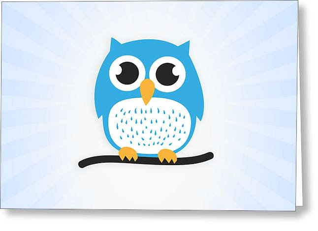 Sweet And Cute Owl Greeting Card