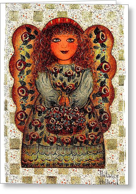Sweet Angel Greeting Card by Natalie Holland