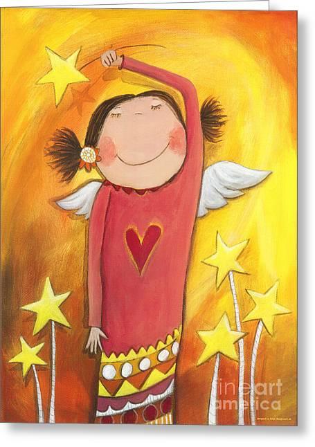 Sweet Angel Greeting Card by Sonja Mengkowski