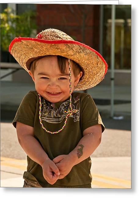 Sweet Boy Cowboy Hat Greeting Card