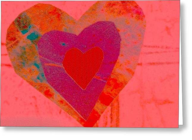 Sweet-candy-heart Greeting Card by Dorothy Rafferty