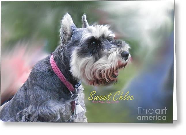 Sweet Chloe Greeting Card by Angelia Hodges Clay