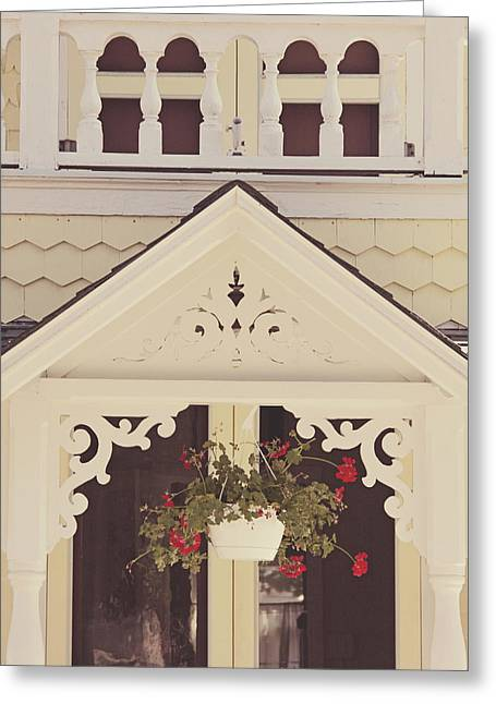 Sweet Cream Cottage Greeting Card by Jillian Audrey Photography