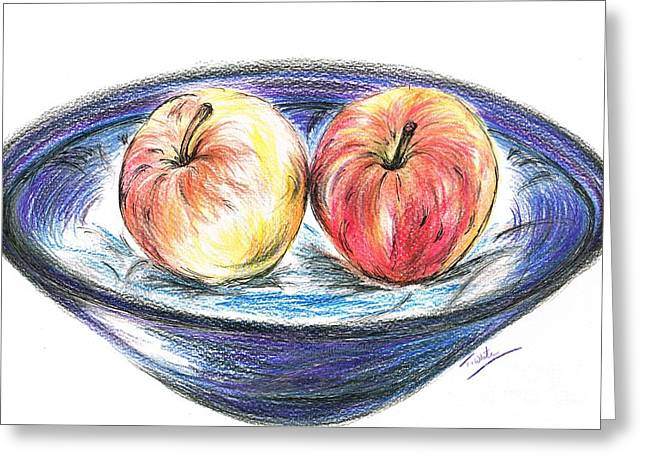 Sweet Crunchy Apples Greeting Card