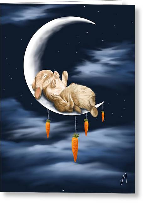 Sweet Dreams Greeting Card by Veronica Minozzi