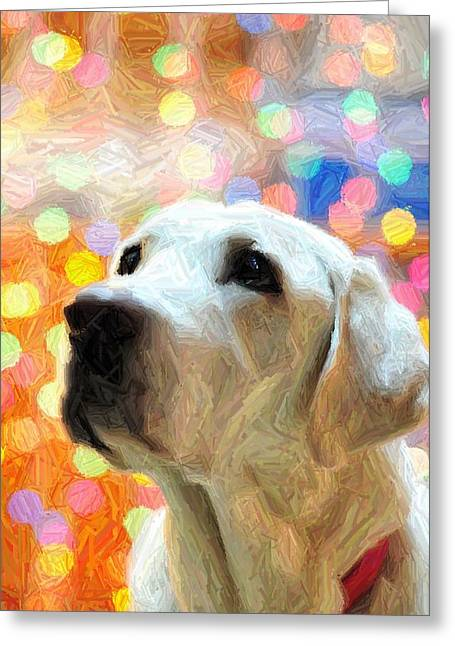 Sweet Eyes Greeting Card by Terry DeLuco