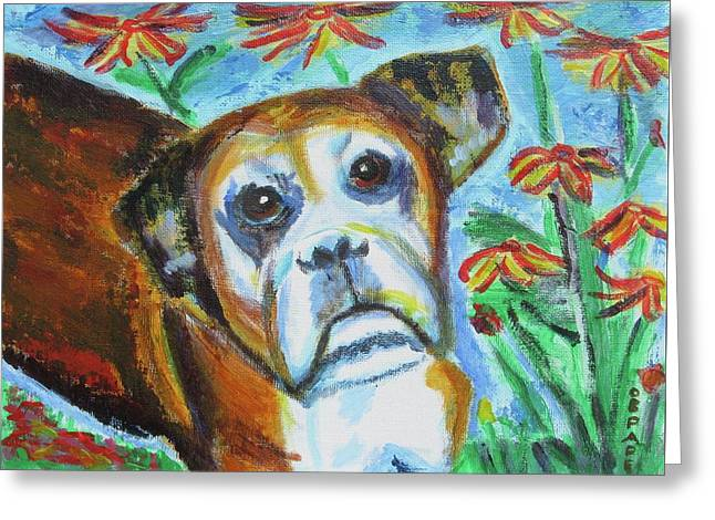 Sweet Ginger Greeting Card by Diane Pape