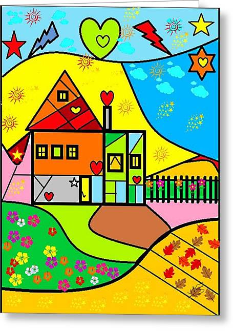 Sweet Home By Nico Bielow Greeting Card by Nico Bielow