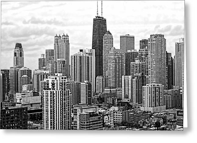 Sweet Home Chicago Bw Greeting Card