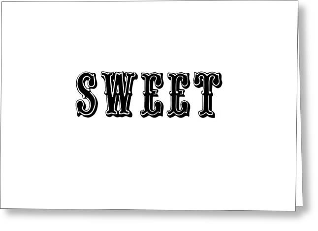 Sweet In Black Greeting Card by Chastity Hoff