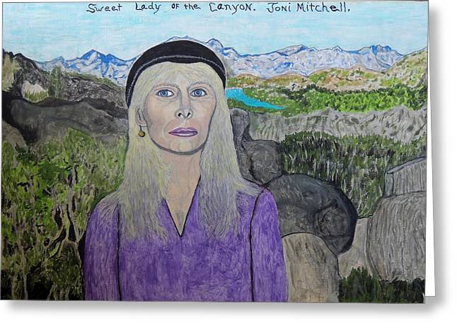 Sweet Lady Of The Canyon. Greeting Card by Ken Zabel