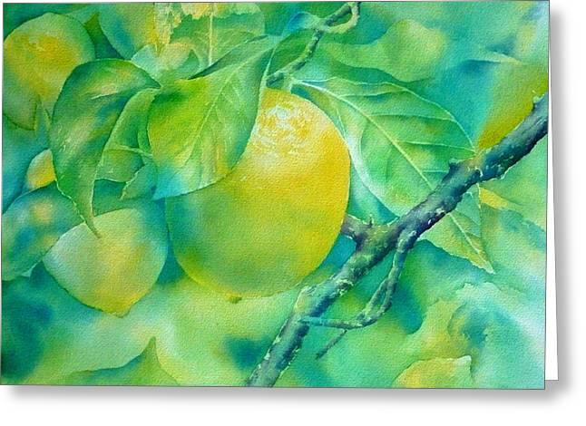 Sweet Lemon Greeting Card by Thomas Habermann