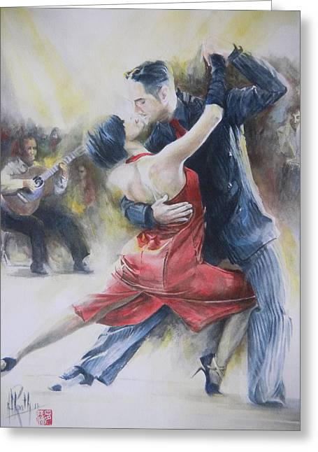 Greeting Card featuring the painting Sweet Love by Alan Kirkland-Roath