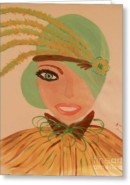 Sweet Mary Of The Sun Greeting Card by Marie Bulger