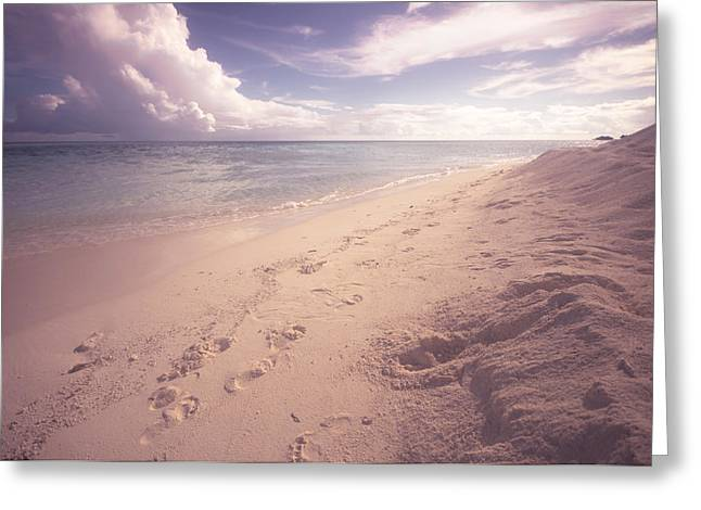 Sweet Moment Of Nostalgy. Maldives Greeting Card by Jenny Rainbow