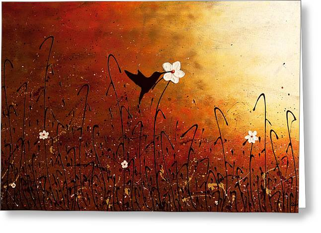 Sweet Nectar Greeting Card by Carmen Guedez