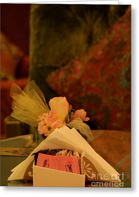 Sweet Nothings Greeting Card by Vishakha Bhagat