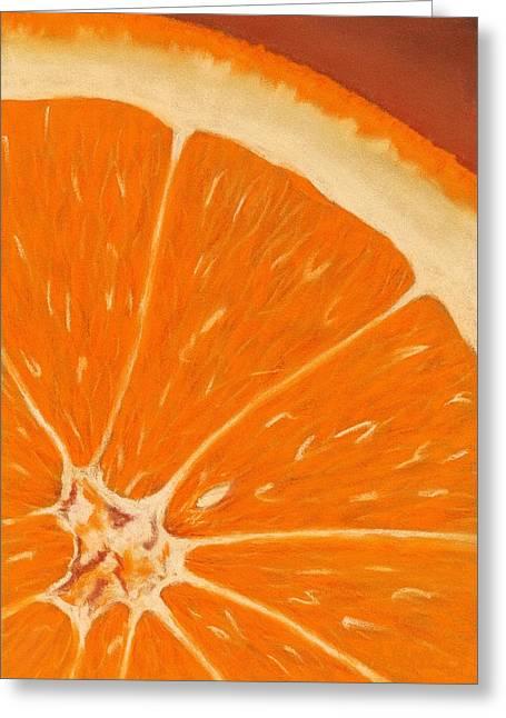 Sweet Orange Greeting Card by Anastasiya Malakhova