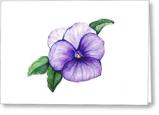 Greeting Card featuring the painting Sweet Pansy by Heidi Kriel