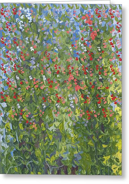 Sweet Peas Greeting Card by Leigh Glover