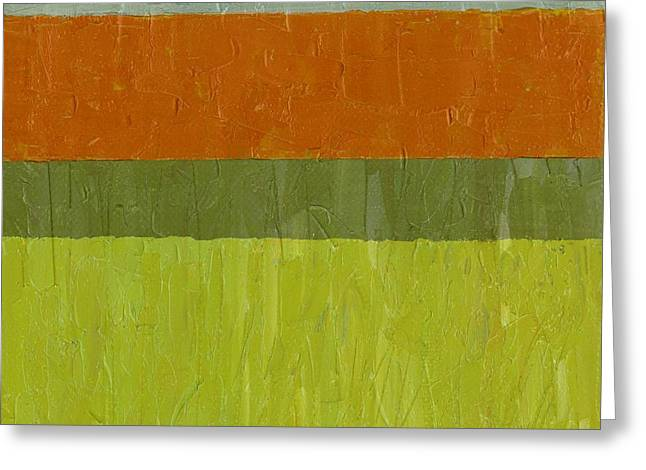 Sweet Potato And Pea Green Greeting Card by Michelle Calkins