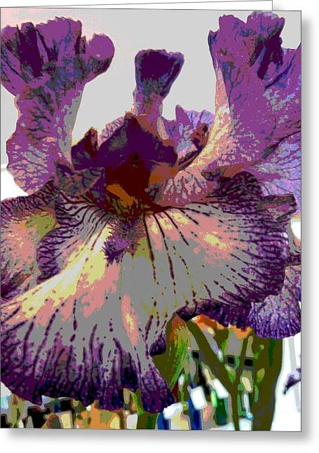 Greeting Card featuring the photograph Sweet Purple by Sally Simon