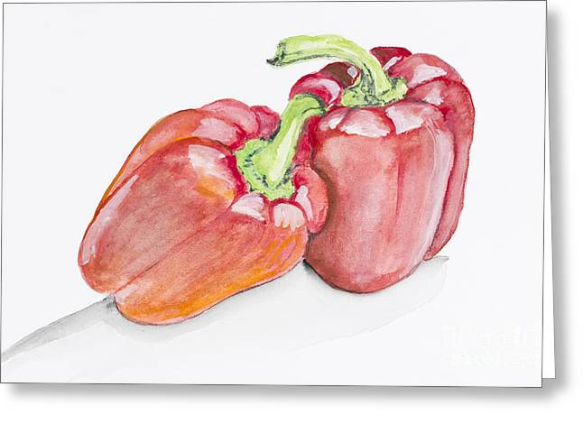 Sweet Red  Paprika Pepper Greeting Card by Irina Gromovaja