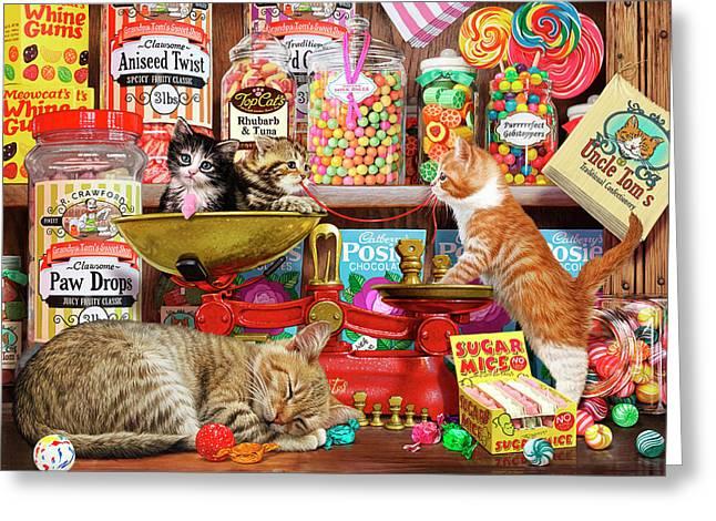 Sweet Shop Kittens Greeting Card
