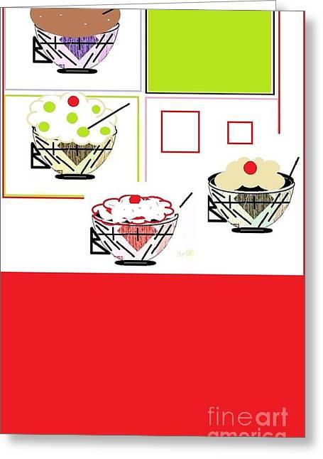 Greeting Card featuring the digital art Sweet Tooth by Ann Calvo