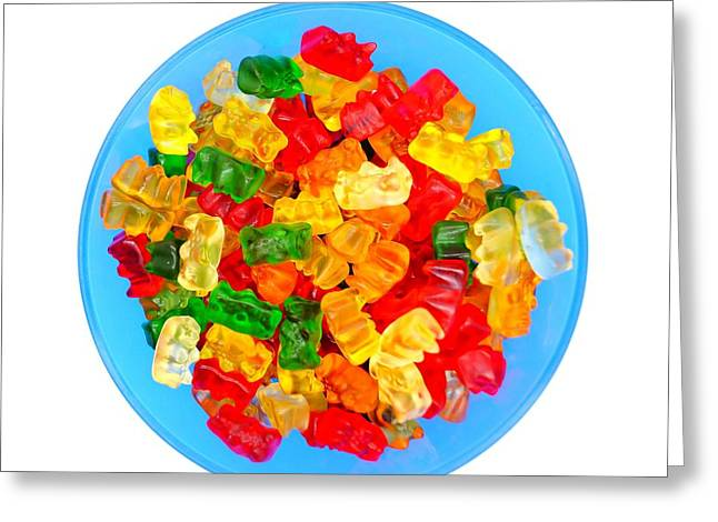 Sweet Treat Gummy Bears Greeting Card by Andrea Rea