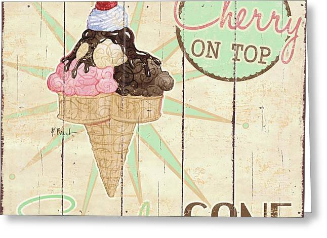 Sweet Treat Signs II Greeting Card by Paul Brent