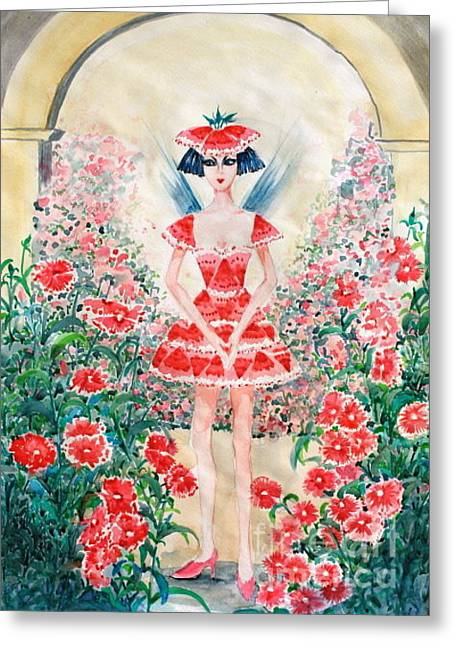 Sweet William Fairy Greeting Card by Phong Trinh