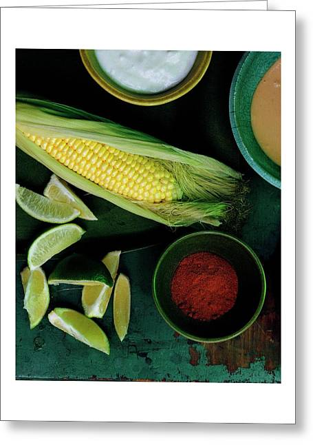 Sweetcorn And Limes Greeting Card