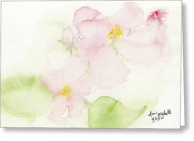 Sweetest Blossoms Of Spring Greeting Card by Ann Michelle Swadener