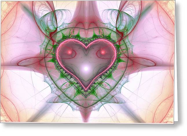 Sweetheart Fractal Greeting Card