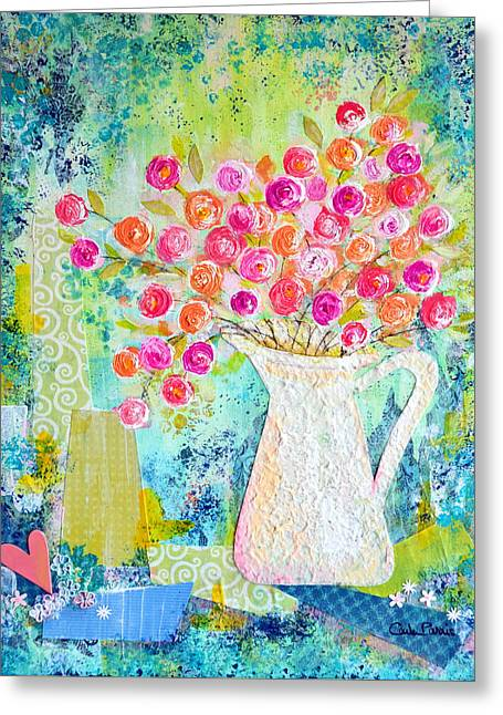 Sweetheart Roses Greeting Card by Carla Parris