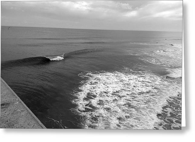Swell At Mercers Pier Greeting Card