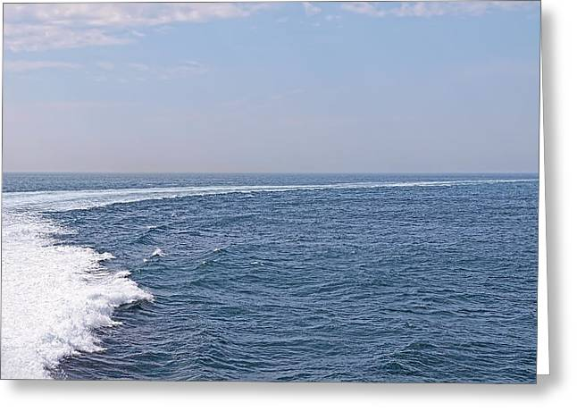 Swell Day On The Ocean Greeting Card by Gill Billington
