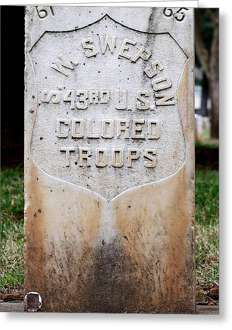 Swepson Tombstone 43rd U. S.  Colored Troops 2013 Greeting Card