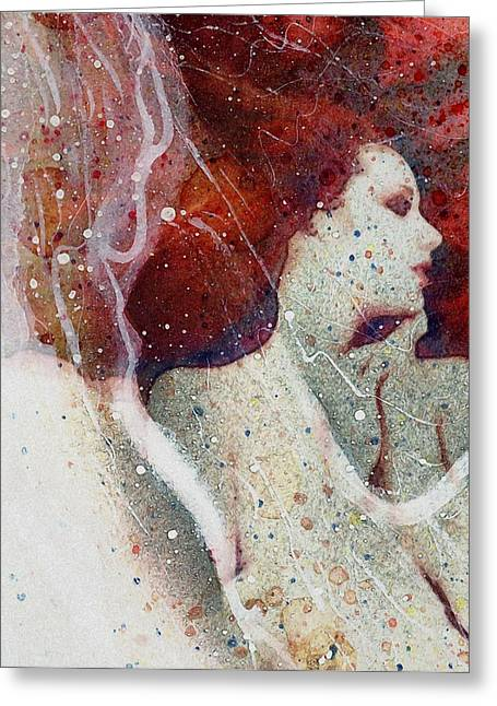Swept In A Bubbly Dream Greeting Card by Gun Legler