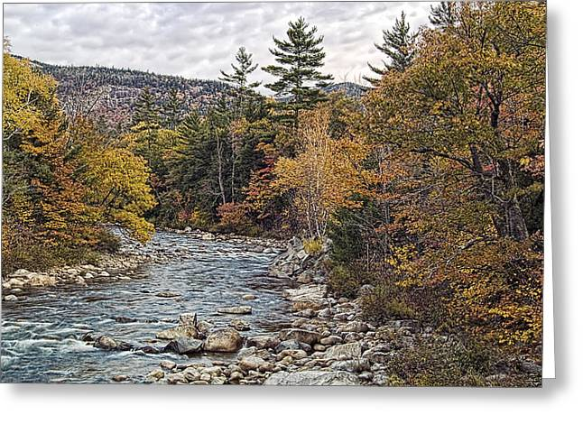 Greeting Card featuring the photograph Swift River Autumn  by Richard Bean