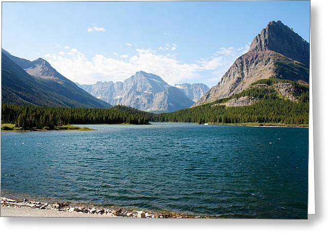 Swiftcurrent Lake Greeting Card by John M Bailey