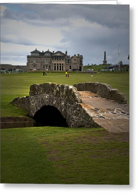 Swilken Bridge Vignette St Andrews Old Course Scotland Greeting Card by Sally Ross