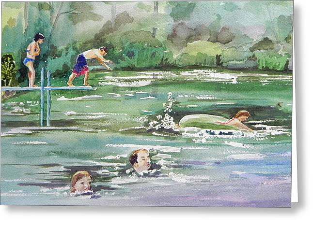 Swim At Little Elk Lake Greeting Card