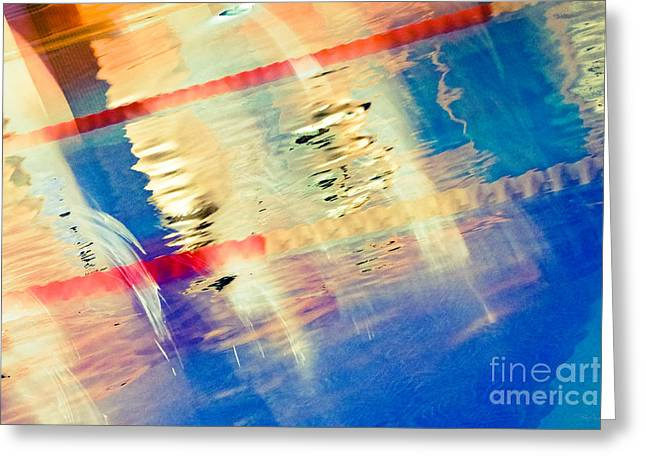 Swimming Pool 01b - Abstract Greeting Card by Pete Edmunds