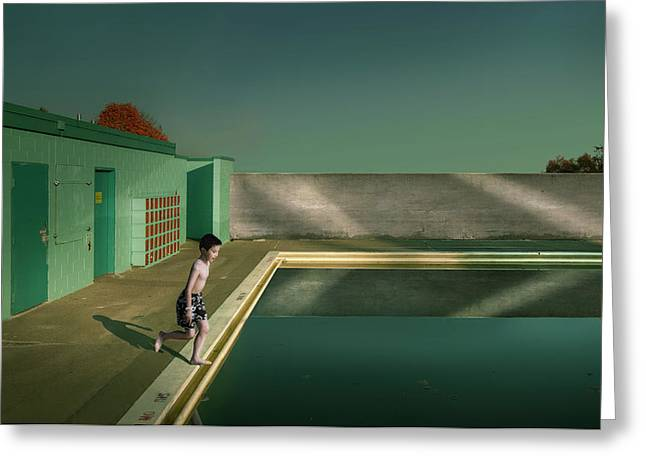 Swimming Pool Greeting Card by Fang Tong