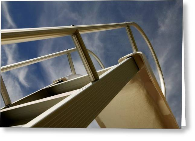 Swimming Pool Ladder Greeting Card by Con Tanasiuk