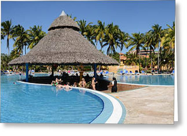 Swimming Pool Of A Hotel, Varadero Greeting Card by Panoramic Images