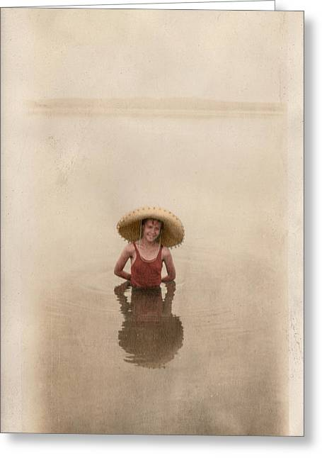 Greeting Card featuring the photograph Swimming by Ron Crabb