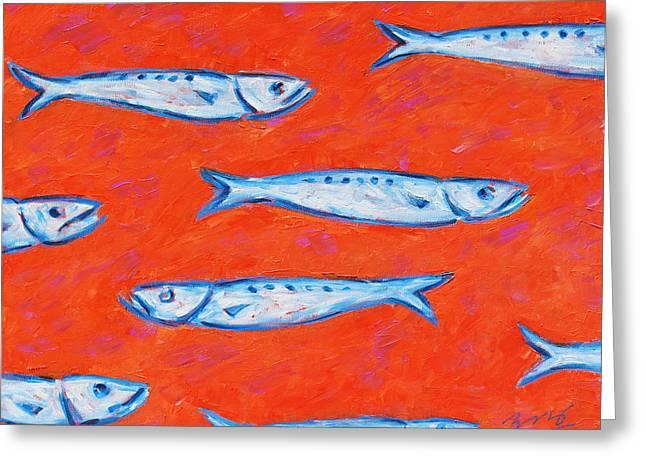 Swimming Upstream Greeting Card